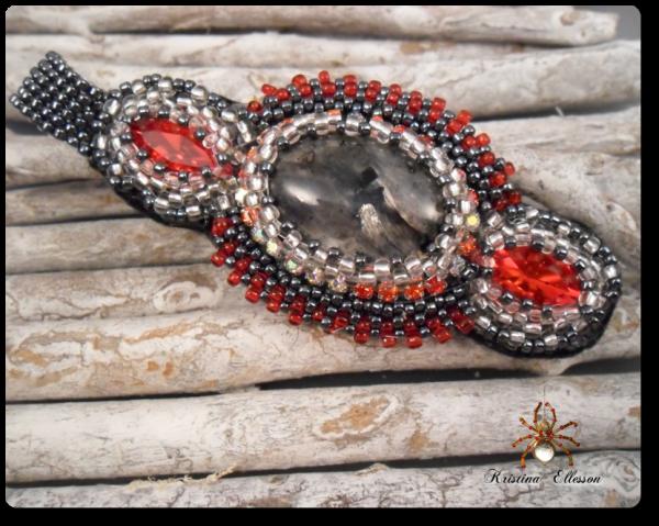 Larvikit red glammper kettenanhänger, pendant