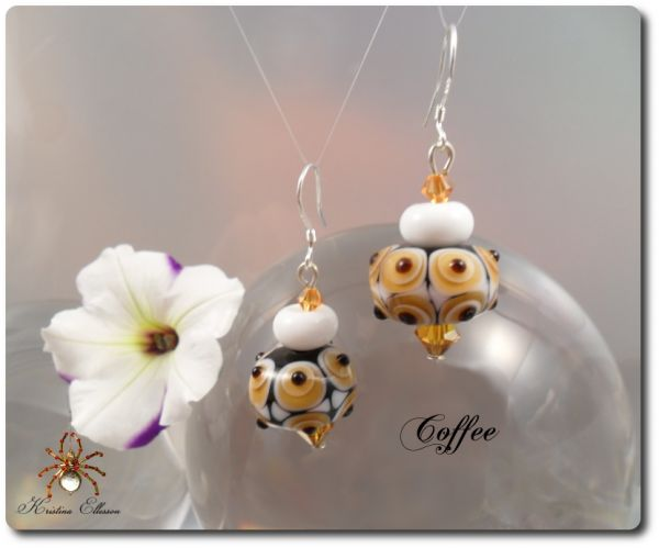 Coffee Handgefertigte Lampwork Ohrringe