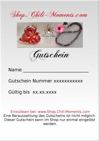 Geschenk - Gutschein 25 Euro