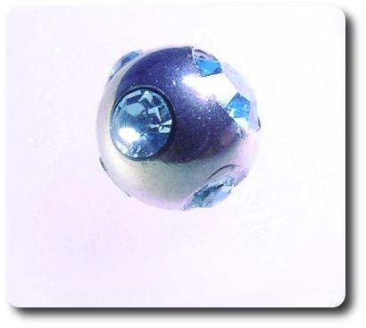 Micro Tiffany Kugel 4mm Blau