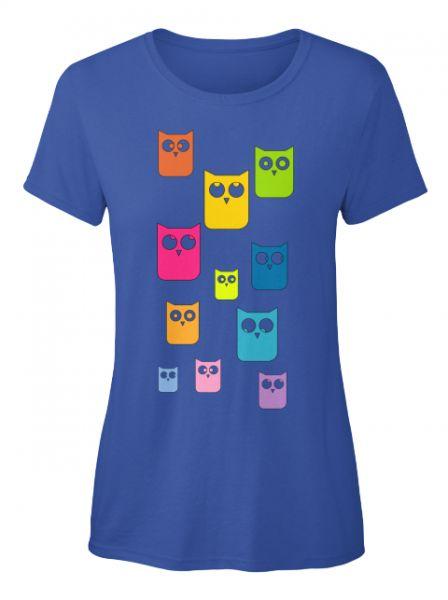 Bunte Eulen T-Shirt ( Verfügbar über Teespring )