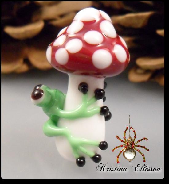 Baby Frosch Lukas Lampwork Glasperle