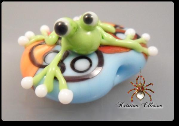 Frosch Daniel Lampwork Glasperle Bead