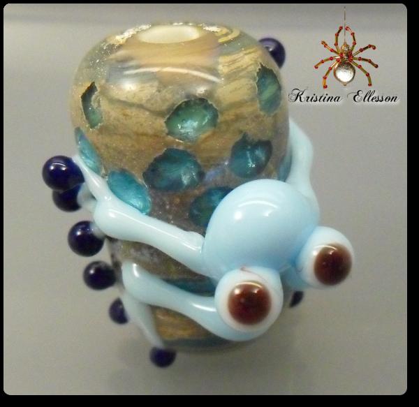 Glasperlen, Frosch, Lampwork;beads