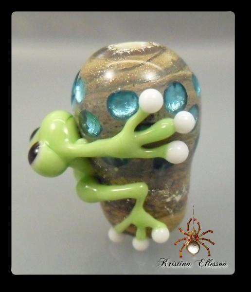 Frosch Robert Lampwork Glasperle